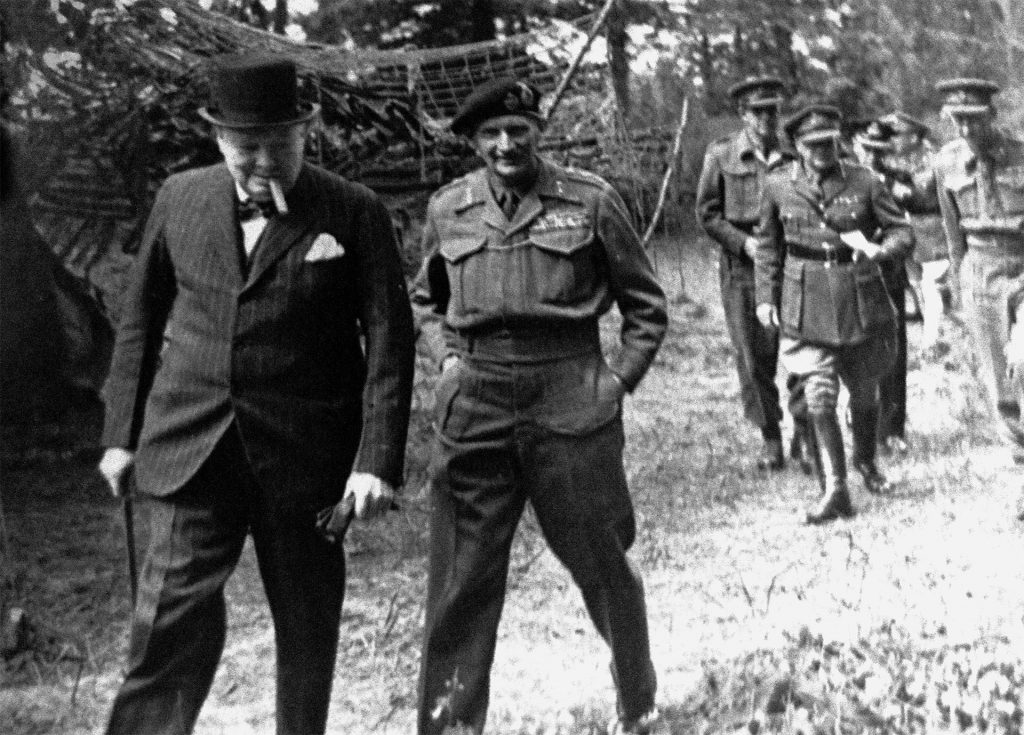 Churchill and Mongomery at Broomfield house late 1944