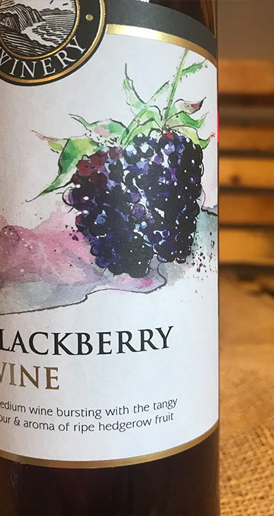 Blackberry fruit wine is a medium wine