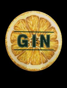 Gin Coaster lemon
