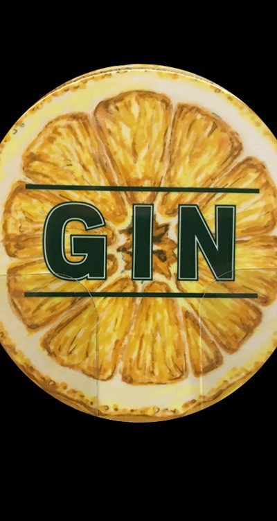 Gin Coaster lemon