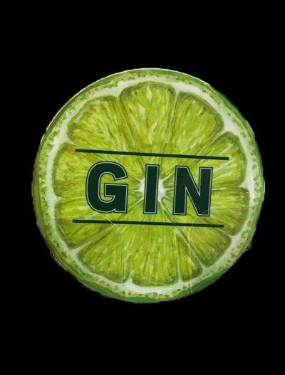 Gin Coaster Lime