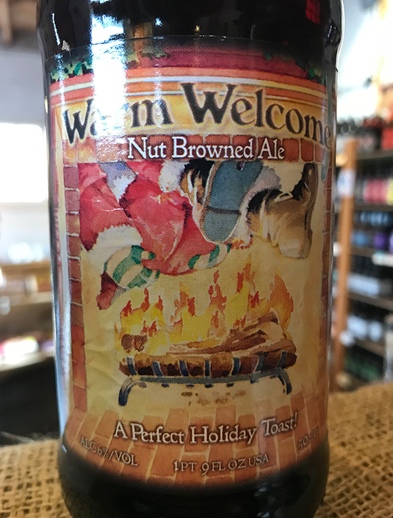 The malts used to make Warm Welcome are roasted to give a hearty amber-brown color and a warm