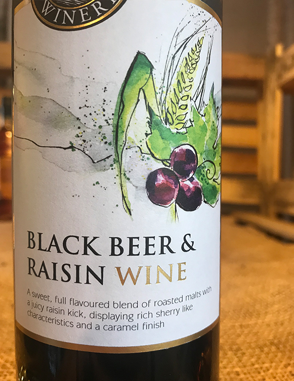 Blackbeer & Raisin wine is a sweet