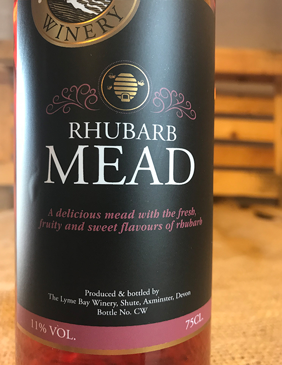 Rhubarb mead showcases the delicious pairing of honey and rhubarb. Served chilled or on the rocks